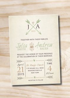VINTAGE ARROWS and Hearts Rustic Wedding by PaperHeartCompany