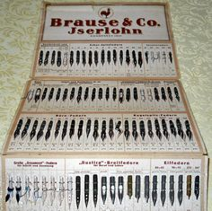 Sample folder of Brause & Co. a German Co. still making quality pen nibs. Judith Walker's Collection