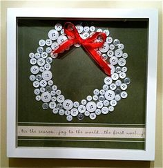 Christmas Button Wreath by StilesStyles on Etsy, $35.00