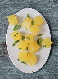 Lemon-Basil gelatin dessert
