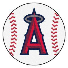 MLB Los Angeles Angels Baseball Mat 27 Diameter