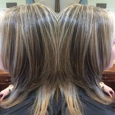 I wish I had hair like @dmw525 !!! Her hair is so stunning with her natural gray/ silver highlights! Of course I enhanced it by adding #silverhighlights to accent her natural color. #highlights #lowlights @organicsalonsystems #organiccolor (at Primrose Organics Salon and Boutique)