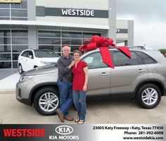 #HappyAnniversary to Robert W Wilpitz on your 2014 #Kia #Sorento from Suliveras Wilfredo at Westside Kia!