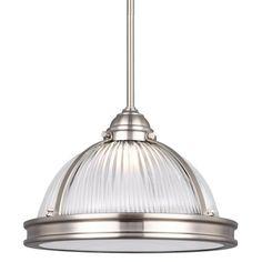 Sea Gull Lighting Pratt Street Prismatic 6506191S Pendant Light