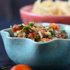 Fresh and delicious cherry tomato salsa takes just minutes to make, and it's perfect for serving with tacos, quesadillas, or crunchy tortilla chips! Cherry Tomato Salsa, Cherry Tomato Recipes, Cherry Tomatoes, Appetizer Recipes, Appetizers, A Food, Food And Drink, Tacos, Fresh Salsa