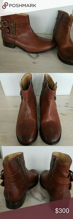 FRYE MOLLY D RING SHORT BOOTS 7.5M $368 NWT FRYE   MOLLY D RING SHORT BOOTS   Size 7.5M   $368 New with tags  COPPER COLOR  BRASS HARDWARE Frye Shoes Ankle Boots & Booties