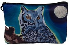 Great Horned Owl Cosmetic Bag  On Sale Taken from by SalvadorKitti, $14.98
