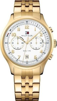 22a84e41012399 Tommy Hilfiger Woman s Emerson Gold Chronograph Date Display 1791390