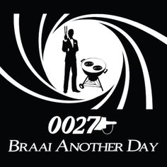 Braai Another Day greeting card for Kinky Rhino Greeting Cards in South Africa #greetingcard #southafricancard #southafrica #card #general #card #braai #bbq #james bond #south #africa #007 #die another day #braai another day