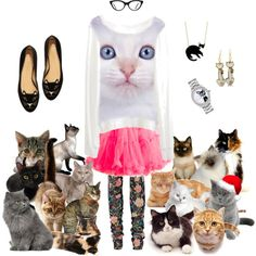 Crazy Cat Lady outfit!! I kinda want the shirt, tutu & tights just to be a weirdo.