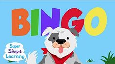 Tom loved this one and was good at helping him to recognize the letters in BINGO. BINGO from Super Simple Songs Baby Songs, Fun Songs, Kids Songs, Rhymes Songs, Kindergarten Songs, Preschool Songs, Action Songs, School Videos, Music And Movement