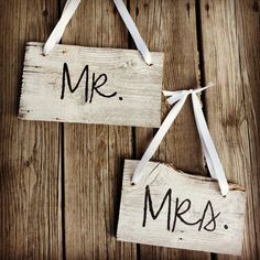 Rustic Wood double sided Mr. and Mrs./Thank You Wedding Signs I made  -GO BUY IT :)