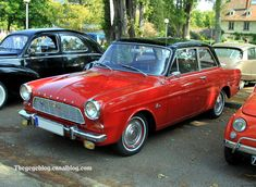 1965 Ford Taunus 12 M (P4). My dad bought the same red-black Taunus 12 M TS (even faster!!!) in appr. 1964.