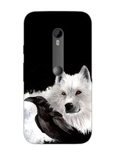 Raven And Ghost Wolf - Game Of Thrones - Designer Mobile Phone Case Cover for Moto X3