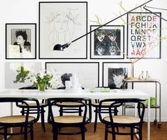 clean & crisp with huge gallery wall