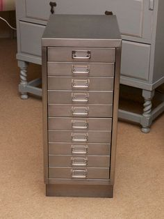retro metal filing cabinet