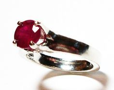 Ruby ruby ring ruby solitaire ring birthstone by Michaelangelas