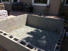 Custom hot tub vault, partially above ground  www.coloradocustomspas.com