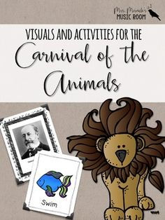 """Need visuals, strategies, and activities to help teach Saint-Saens' """"The Carnival of the Animals""""? This comprehensive 120-page unit includes activities, slideshows, worksheets, and more!"""