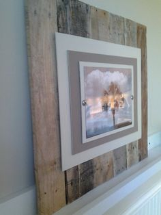 Reclaimed Wood Picture Frame (Made to Order) on Etsy, $99.00