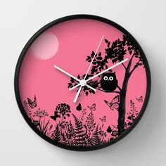 night owl Wall Clock