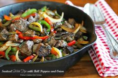 Melissa's Southern Style Kitchen: Sauteed Sirloin Tips With Bell Peppers And Onion