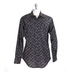 Rockmount Black Print Men's Shirt at Maverick Western Wear