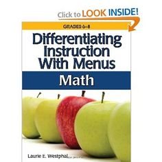 Differentiating Instruction With Menus: Math (Grades 6-8): Laurie E. Westphal: 9781593633677