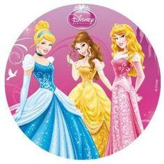 Disque azyme pour gâteau Princesses Disney Ø 20 cm, gâteau d'anniversaire de princesse facile :-) #gateauanniversairenfant