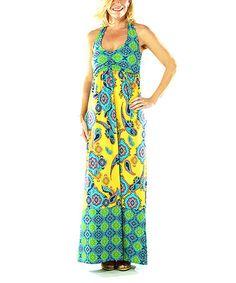 Look at this #zulilyfind! Henna Paisley Lemon Ansley Maxi Dress - Women by Tracy Negoshian #zulilyfinds