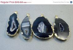 Halloween SALE Large Brown/Black Agate Druzy by jewelersparadise