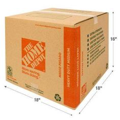 18 in. L x 18 in. W x 16 in. D Heavy Duty Medium Moving Box