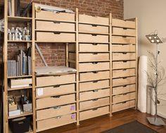Sonheim Studio Storage Solution (SSSS) | IKEA Ivar shelves w custom shelves