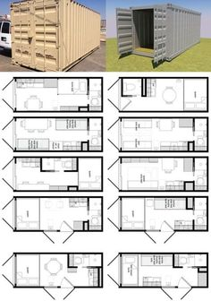 20-Foot Shipping Container Floor Plan Brainstorm | Tiny House Living...You did this as a child with school buses.: