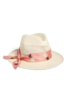 7ff71218282 kate spade new york silk band straw trilby perfect Miami Style hat