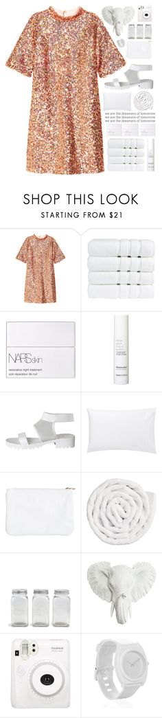 """""""keep on dreaming..."""" by cinnamon-and-cocoa ❤ liked on Polyvore featuring H&M, Christy, NARS Cosmetics, This Works, Pieces, Jigsaw, VIPP, Park Hill Collection, Fuji and Nixon"""