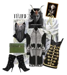 """""""🖤➰Divine Savage Warrior and Military Jacket➰🖤"""" by maijah ❤ liked on Polyvore featuring Dolce&Gabbana, Burberry, Alexander McQueen, Shaun Leane and Charlotte Olympia"""