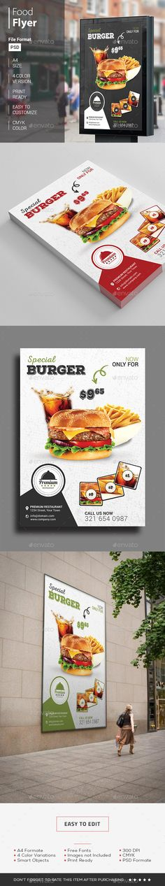 #Food Flyer - Restaurant Flyers Download here: https://graphicriver.net/item/food-flyer/14379295?ref=classicdesignp
