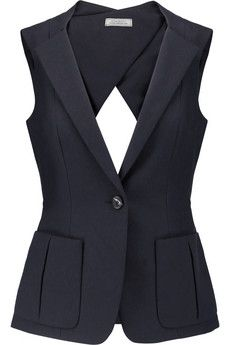 Nina Ricci Cutout cotton-piqué vest | THE OUTNET