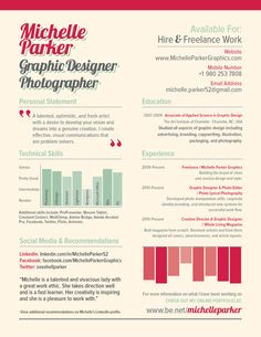 Resume by Michelle Makar Parker, via Behance
