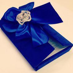 Love This Regal Royal Blue Velvet Wedding Invitation By Www.sandispells.com!