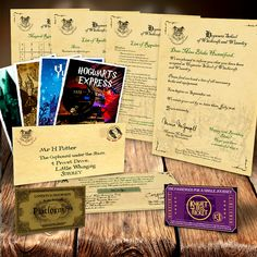 spells ticket quill wand Personalised MEGA PACK Hogwarts Acceptance letter