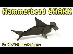 Origami Hammerhead SHARK by Mr. Yukihiko Matsuno - Yakomoga Origami tutorial - YouTube