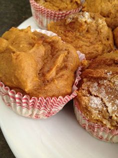 100 cal Pumpkin Spice Muffins ~ Only 3 Items!  1box of Spice Cake Mix+1 egg+ 1-15 oz can of Pumpkin Pie Filling