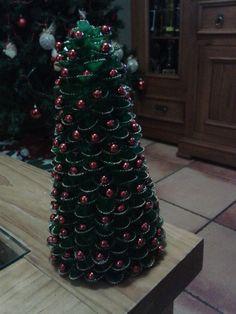 árbol de navidad con pasta