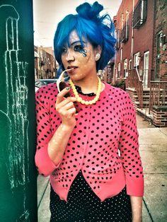 comic book girl makeup Roy Lichtenstein inspired