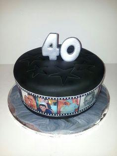 Photo reel cake