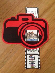 """For every lkr, vd lln vh sixth: camera with poem on the back and 5 """"photos & # s"""" of the time these lln were with the lkr! Summer Crafts, Diy And Crafts, Arts And Crafts, Paper Crafts, School Art Projects, Art School, Diy For Kids, Crafts For Kids, Arte Elemental"""