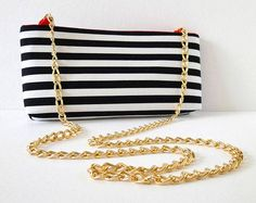 Free Bag Pattern and Tutorial - Striped Crossbody Clutch Purse