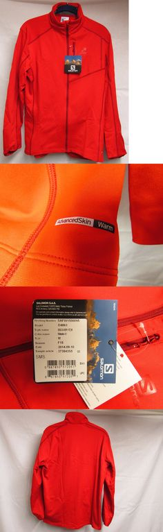 Jackets and Vests 59353: New Salomon Mens Discovery Fleeze Trail Running Jacket Red Nwt -> BUY IT NOW ONLY: $34.98 on eBay!